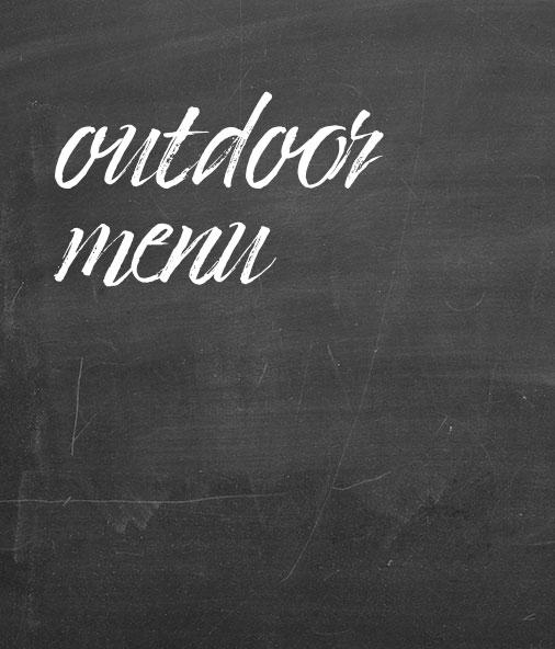 Outdoor menu